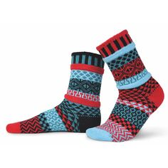 Life is too short for matching socks, especially when you can wear these fun and beautiful Solmate Socks! The Mars Crew Sock design makes a tasteful, dramatic entrance and an out-of-this-world sock drawer addition!