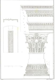 1842 Palladio Architectural Print Baptistery of by CarambasVintage, $18.00