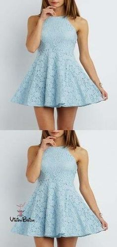 Sexy Mini Cocktail Dress, Lace Blue Short Cocktail Dress, 2019 Prom Dress - - Source by Light Blue Dress Short, Light Blue Dresses, Short Lace Dress, Dress Lace, Light Blue Homecoming Dresses, Two Piece Homecoming Dress, Hoco Dresses, 1950s Dresses, Prom Gowns