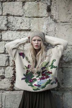 Mes Demoiselles Paris   Bonnet Cheyen, pull Jardin et jupe Madonna