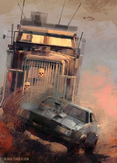Some more Mad Max fan art, because of reasons. New Year is coming, so my new calendar is coming as well. Cultura Pop, Fallout, Imperator Furiosa, The Road Warriors, New Year Is Coming, Mad Max Fury Road, Car Posters, Movie Poster Art, Horror Art