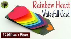 Rainbow Heart | Love waterfall card for Valentine's Day - DIY Tutorial b...
