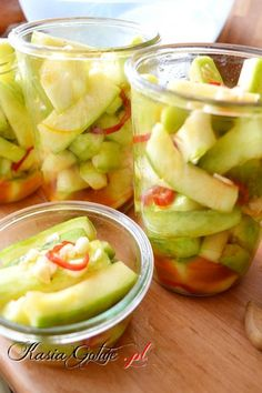 Polish Recipes, Fruit Salad, Preserves, Pickles, Cucumber, Vegan Recipes, Good Food, Food And Drink, Chilli