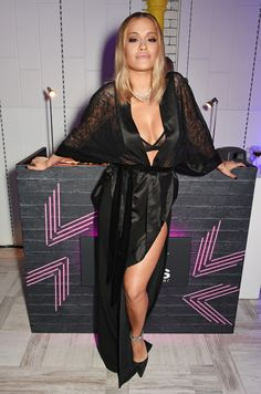 Rita Ora at the Newly Relaunched Tezenis Store at Oxford Circus 2016 Seductive Women, Satin Slip, Beautiful Lingerie, Sexy Lingerie, Rita Ora, Oras, Celebs, Celebrities, My Baby Girl