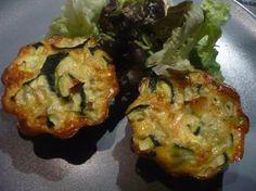 Muffins aux courgettes et saumon