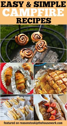 Camping Recipes that are simple, easy to pack, and delicious! You'll want these for your next camping trip! Camping Recipes that are simple, easy to pack, and delicious! You'll want these for your next camping trip! Diy Camping, Zelt Camping, Camping Menu, Camping Desserts, Kayak Camping, Camping Glamping, Camping Checklist, Camping Essentials, Camping With Kids