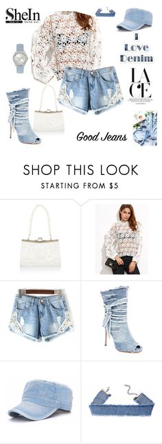 """i love denim with lace"" by agnesmakoni ❤ liked on Polyvore featuring Monsoon, Liliana and GUESS"