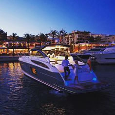 Have a nice evening by Princess Yacht V48 by @princessyachts #boatim #princessyachts #motorboat #boat #boatlife #instaboat #yacht #motoryacht #yachtlife #instayacht #marina #party #marinabotafoch #ibiza #baleares #spain - Thanks for Following @boatim