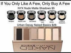cremescometrue: Get Naked. Or Just Partially Naked. Cremes Come True . cremescometrue: Get Naked. Or Just Partially Naked. Cremes Come True . Com The NYX Stripped isn't very pigmented. Makeup Elf, Kiss Makeup, Love Makeup, Makeup Tips, Makeup Tutorials, Sleek Makeup, Cheap Makeup, Makeup Case, Halloween Makeup