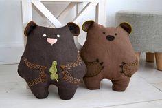 Brown bear plush stuffed toy soft toy kids gift stuffed
