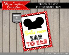 INSTANT DOWNLOAD Classic Mouse Thank You for Coming Party Sign  Classic Mouse Collection  Item #3338