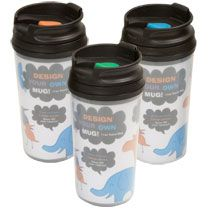 Inexpensive and cute wedding favor. Personalize your own travel mug for only $1 each!