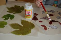 Our Creative Day: Preserving Fall Leaves