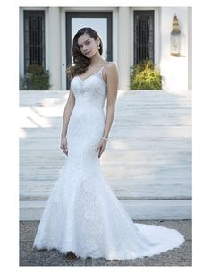 Beaded lace trumpet available at Spotlight Formal Wear! #SpotlightBridal