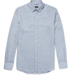 Ermenegildo ZegnaCotton and Cashmere-Blend Shirt