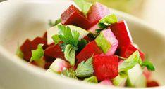 Salade de betteraves rouges aux pommes
