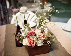 mint love social club: {my bridal shower} Bridal Shower Centerpieces, Floral Centerpieces, Floral Arrangements, My Bridal Shower, Bridal Showers, Flower Boxes, Flowers, Outdoor Parties, Wedding Designs