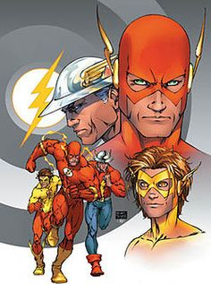 The Flash is a name shared by several fictional comic book superheroes from the DC Comics universe.