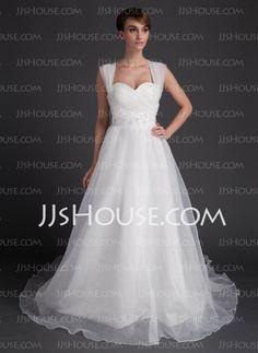 Wedding Dresses - $186.99 - A-Line/Princess Sweetheart Chapel Train Organza Satin Wedding Dresses With Ruffle Beadwork (002016006) http://jjshouse.com/A-line-Princess-Sweetheart-Chapel-Train-Organza-Satin-Wedding-Dresses-With-Ruffle-Beadwork-002016006-g16006