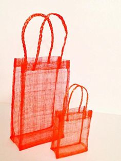 Sinamay Tote - Tomato Red (Pack of 10) ** Additional details at the pin image, click it  : Wrapping Ideas