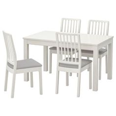 IKEA offers comfortable and durable dining room sets in a variety of styles, finishes, and seating arrangements that can match any dining room. Dining Furniture Sets, Dining Room Sets, Outdoor Furniture Sets, Dining Area, Table Ikea, Table And Chairs, Stuva Loft Bed, Chaise Ikea, Table Extensible