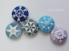 Snowflake buttons designed by Gina-B