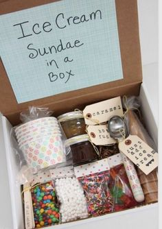 geschenkideen fuer beste freundin eis selber machen geschenk box