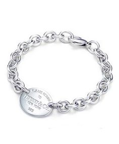 Return to Tiffany & Co Oval Tag Bracelet