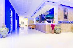 Reception, white, blue, work, uniform, great service, hospitality, comfort, luxe, summer - Phoenicia Luxury Hotel, Mamaia Nord, Constanta, Romania