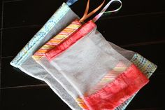 Reusable produce bags from the hobby room diaries