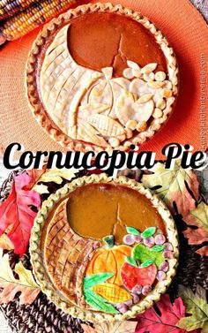 Personalized Graduation Gifts - Ideas To Pick Low Cost Graduation Offers Kick Up Your Pumpkin Pie Game This Thanksgiving By Making This Festive Cornucopia Pumpkin Pie. Its Easier To Make Than You May Think. Fall Dessert Recipes, Fall Desserts, Fall Recipes, Recipes Dinner, Pie Recipes, Dessert Ideas, Holiday Recipes, Pie Game, Fall Arts And Crafts