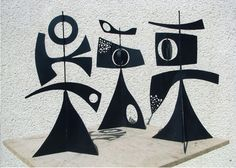 Philippe Hiquily, Girouette, 1963-2009  3 Pieces  Iron  8 copies  H: 40 cm or 100 cm