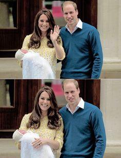 Princess of Cambridge leaving hospital