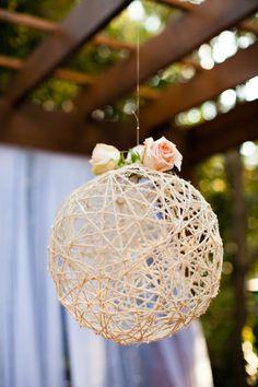 string ball decor idea                                                                                                                                                     More