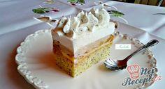 Recept Makovo-meruňkový řez High Sugar, Polish Recipes, Polish Food, 20 Min, Dessert Recipes, Desserts, Vanilla Cake, Nutella, Food And Drink