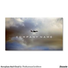 Aeroplane And Cloud Business Card