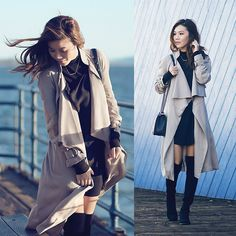via LookBook Long Trench Coat, Passion For Fashion, Duster Coat, Style Inspiration, Elegant, My Style, Fashion Trends, Fasion, Fall