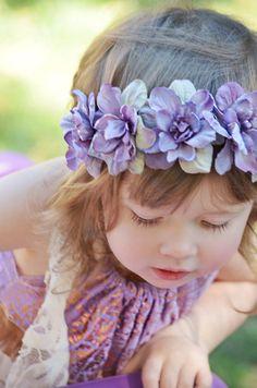 Lavender flower crown / purple flower crown / baby flower crown / baby flower crown / infant flower crown / adult flower crown / flowergirl