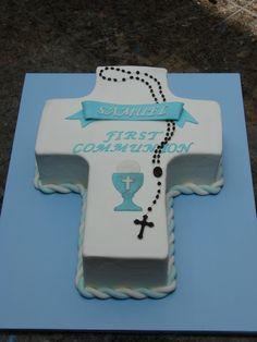 First Communion Cross Cake