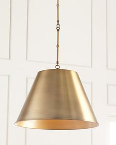 "$235 Gold Aiden 1-Light Pendant 18.25""Dia. x 33.75""T,"