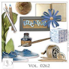 Vol. 0262 School Mix by D's Design  #CUdigitals cudigitals.comcu commercialdigitalscrapscrapbookgraphics #digiscrap