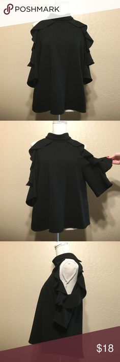 196c9375358c Spotted while shopping on Poshmark  Top Shop Ruffle Cold Shoulder Top!   poshmark