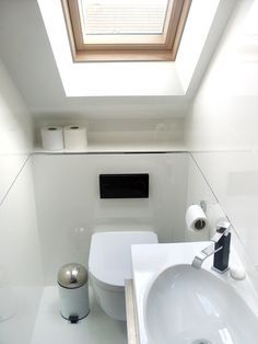 very small toilet room in loft - Google Search