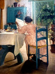 Vilhelm Hammershoi, At breakfast