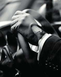 gentleman should always wear driving gloves..