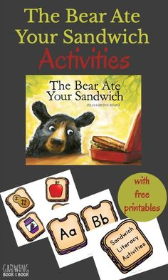 The Bear Ate Your Sandwich Activities are full of fun literacy activities for kids including a BIG printable pack. The learning ideas are perfect for Read for the Record Day.