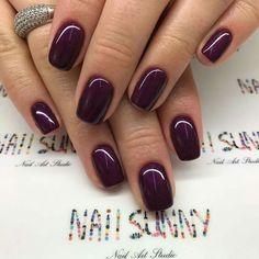 Maroon, short nails, cute, summer