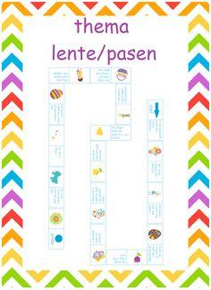 Leuke leesrups over eieren. Goed te begruiken tijdens de lente en pasen. Primary School, Spelling, Doodles, Easter, Chart, Teaching, Dyslexia, Elementary Schools, Education