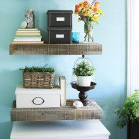 CK OUT HIDDEN DRAWERS IN SHELVES Reclaimed Wood Floating Shelves | Not JUST A Housewife