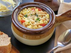 Pasta e Fagioli dishes up pasta and beans for a hearty soup. # ...
